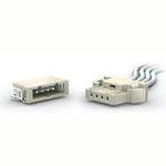 connettore di alimentazione elettrica / SMT / filo a scheda / diritto