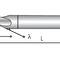 fresa integrale / per alluminio / a gambo cilindrico