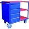 banco da lavoro in acciaio / mobile / 6 cassetti / 4 cassetti