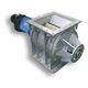 valvola rotante per trasporto pneumatico / per materiali sfusi / flangia quadrata / antideflagrante