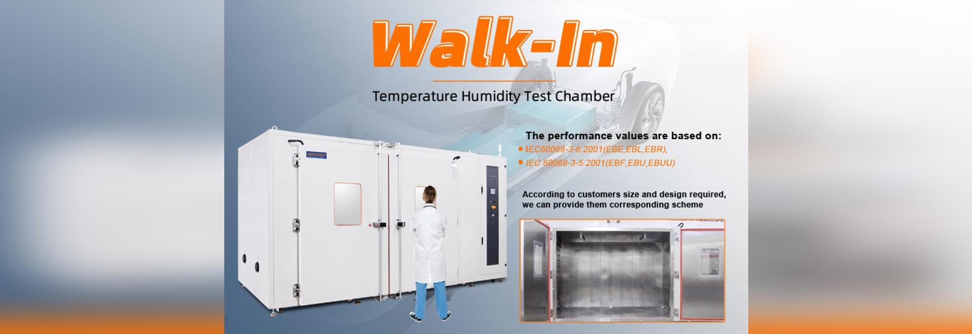 Camera di prova della temperatura di Sanwood standard/personalizzata di tipo walk-in