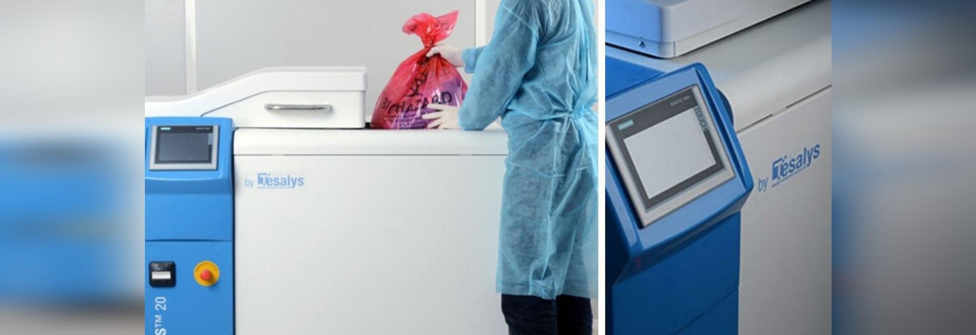 Covid-19: La società francese Tesalys produce macchine per il trattamento dei rifiuti infettivi
