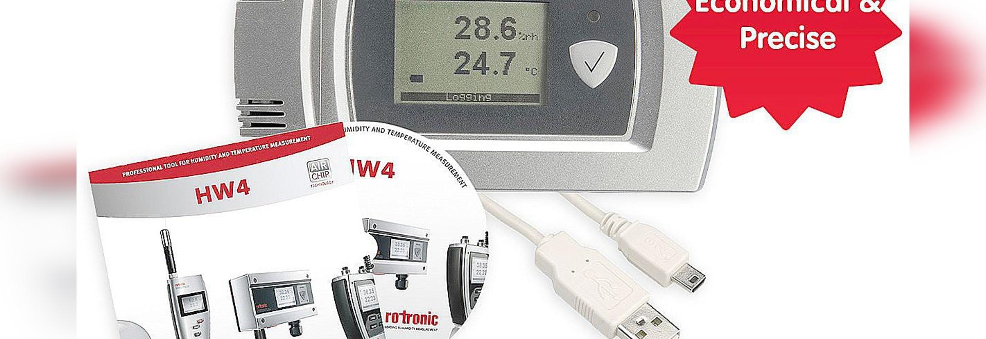 HL-20 - Logger per umidità relativa e temperatura. Elevata precisione di misura: 0,8 %ur e 0,2 °C.