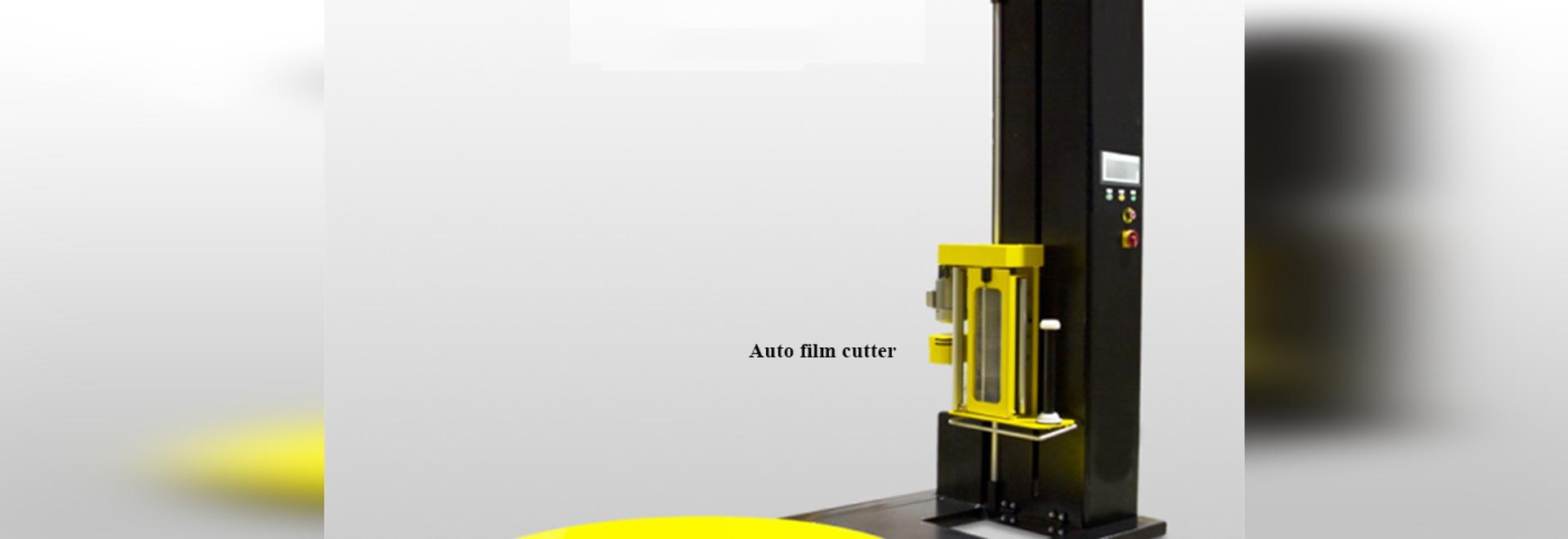 involucro semi-automatico di allungamento con la taglierina automatica
