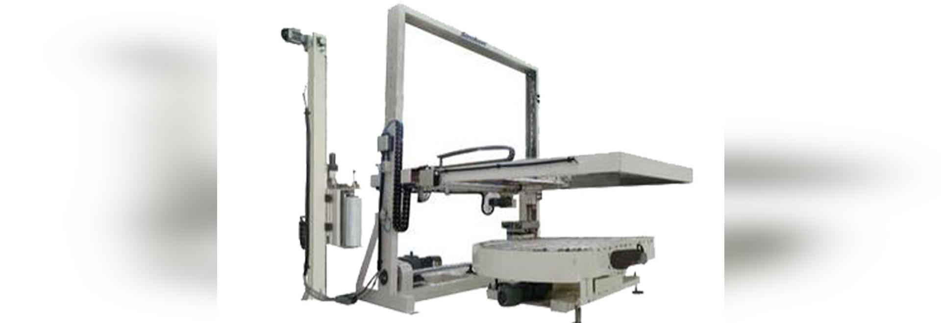 Macchina avvolgitrice della piattaforma girevole automatica con l'applicatore superiore dello strato