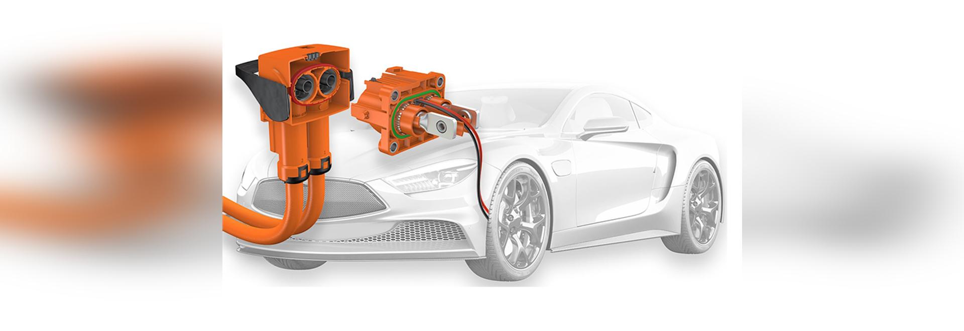 PerforMore un connettore bipolare ad alta tensione per l'utilizzo in veicoli elettrici