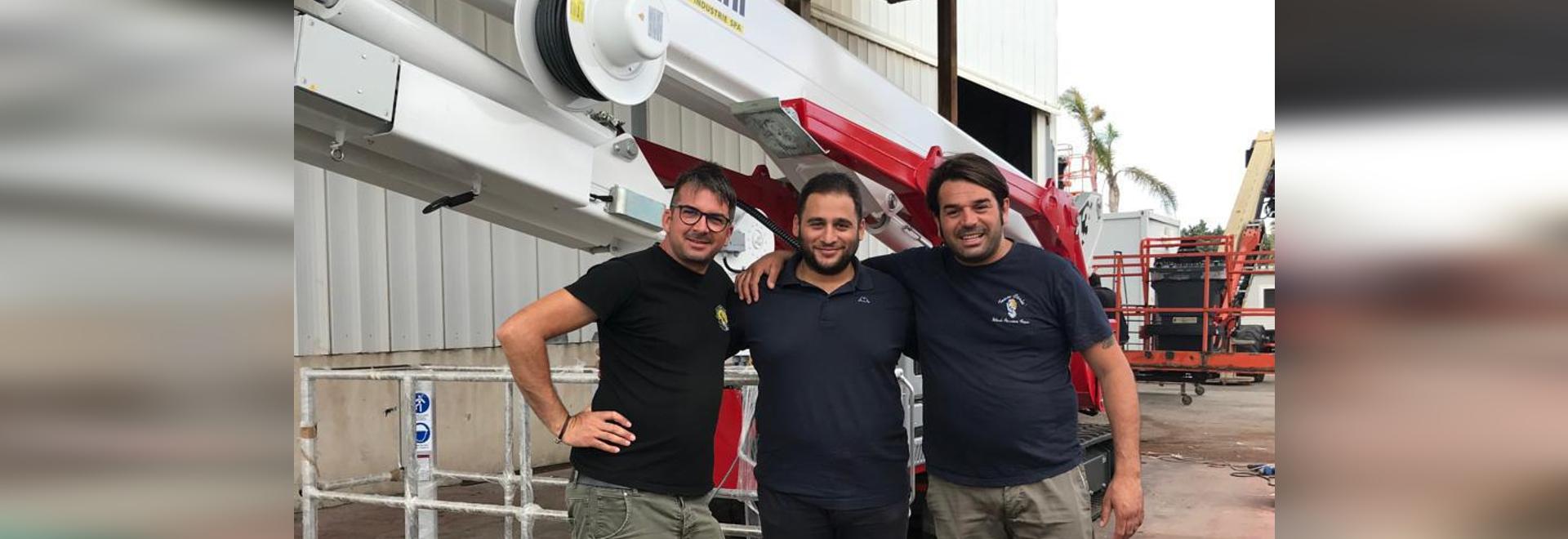 Un Ragno cingolato Palazzani arriva in Puglia