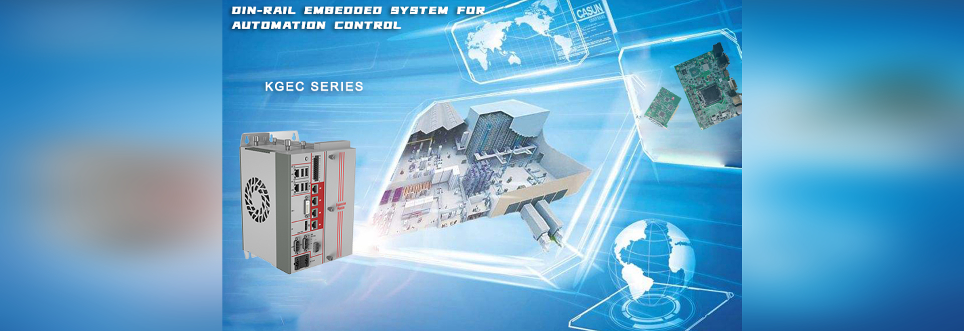 Sistema ad incasso su guida DIN JHC serie KGEC-6301