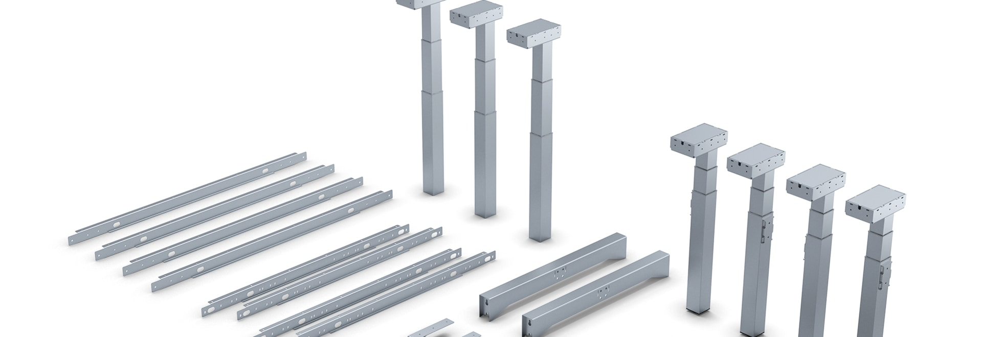Sistema modulare per diversi sottotelai di tavoli
