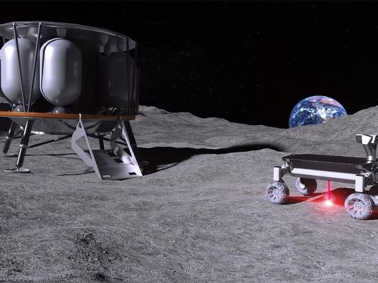 Laser per fondere la polvere lunare per la produzione additiva nello spazio