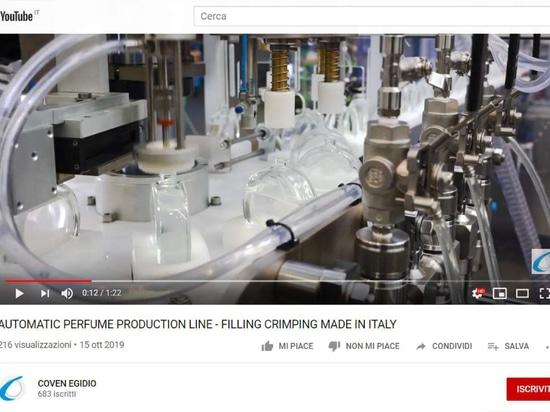 AUTOMATIC PERFUME PRODUCTION LINE