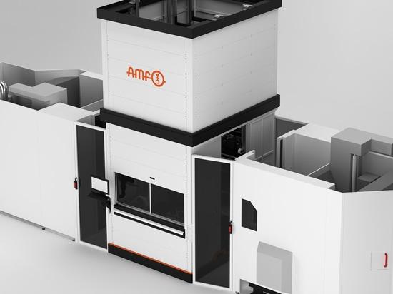 Grazie alla struttura modulare e flessibile della nostra unità di carico AMF, il pedaggio macchina può essere pallettizzato su due lati.