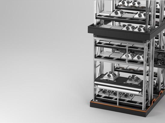 Con la nostra nuova unità di caricamento AMF, realizziamo i nostri centri di lavorazione da soli.