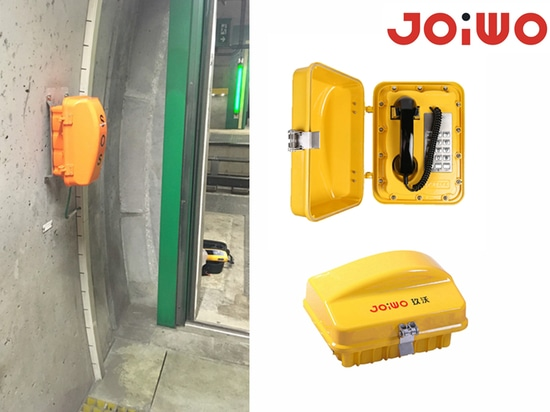 Telefono a prova di intemperie Joiwo JWAT301 installato in Svizzera.