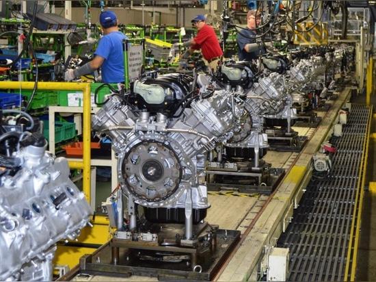 Toyota Motor Manufacturing Alabama (TMMAL) - Linea di produzione motori V6
