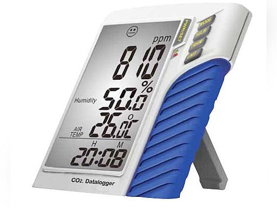 Monitor dell'anidride carbonica e registratore automatico di dati