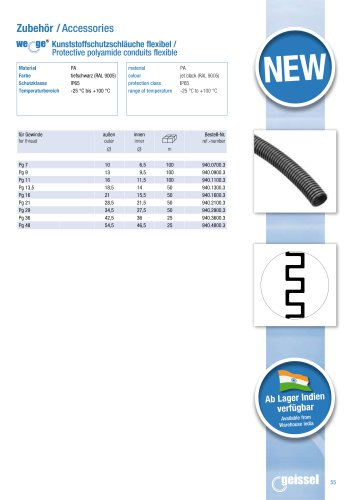 wege® Protective polyamide conduits flexible data sheet