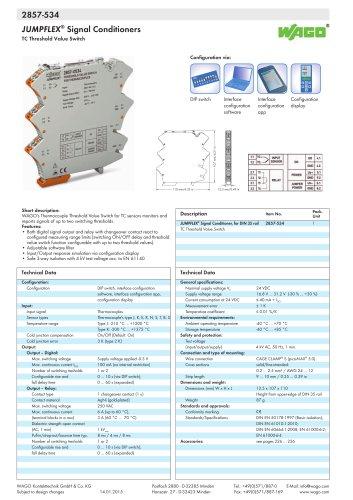 2857-534 JUMPFLEX® Signal Conditioners