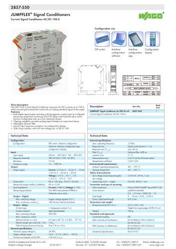2857-550 JUMPFLEX® transducer; Current transducer