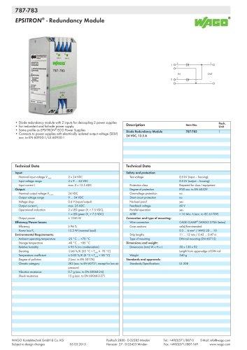 787-783 EPSITRON® - Redundancy Module