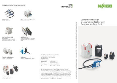 Current and Energy Measurement Technology