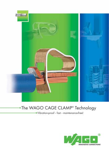 Describes WAGO CAGE CLAMP technology