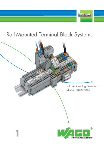 Rail-Mounted Terminal Block Systems (2012/2013 Vol.1)