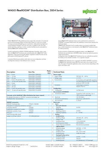 WAGO flexROOM® Distribution Box, 2854 Series
