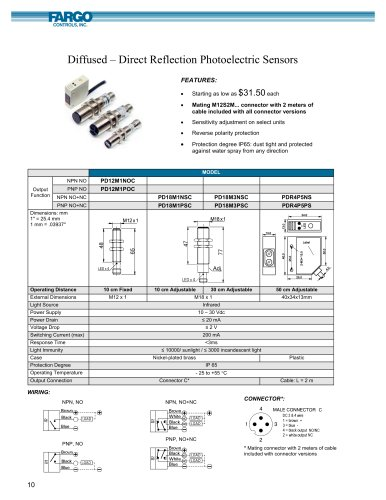 Diffused ? Direct Reflection Photoelectric Sensors