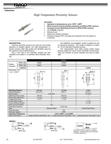 High Temperature Proximity Sensors