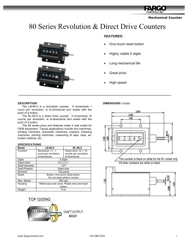 LB-80-5 revolution counter