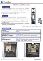 United Test: WDW-50 Ring stiffness tester, PVC PE plastic pipe