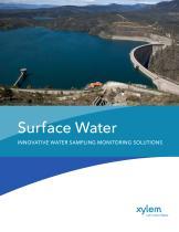 Surface Water INNOVATIVE WATER SAMPLING MONITORING SOLUTIONS