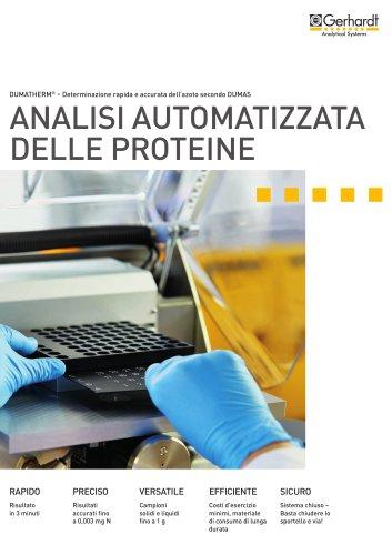 DUMATHERM® - Analisi automatizzata delle proteine