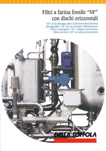 """Filtri a farina fossile """"NF"""" con dischi orizzontali"""