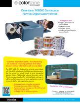 CDT 1600-C: Continuous Roll Digital Color Printer DATA SHEET