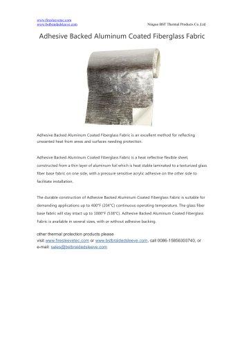 Adhesive Backed Aluminum Coated Fiberglass Fabric