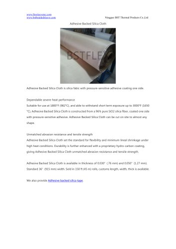 BSTFLEX Adhesive Backed Silica Cloth fire blanket