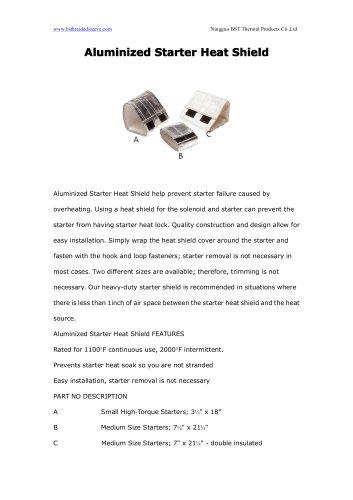 BSTFLEX Aluminized Starter Heat Shield