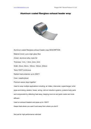 BSTFLEX Aluminum coated fiberglass exhaust header wrap