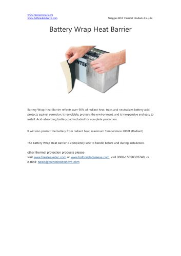 BSTFLEX Battery Wrap Heat Barrier for heat protection