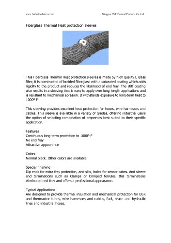 BSTFLEX Fiberglass Thermal Heat protection sleeves -