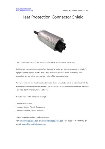 BSTFLEX Heat Protection Connector Shield