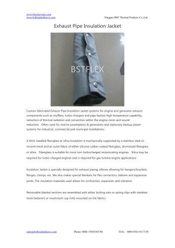 BSTFLEX heat protection Exhaust Pipe Insulation Jacket