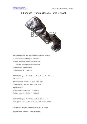 BSTFLEX heat shield Fiberglass Hyundai Genesis Turbo Blanket