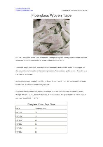 BSTFLEX high temperature fiberglass woven tape