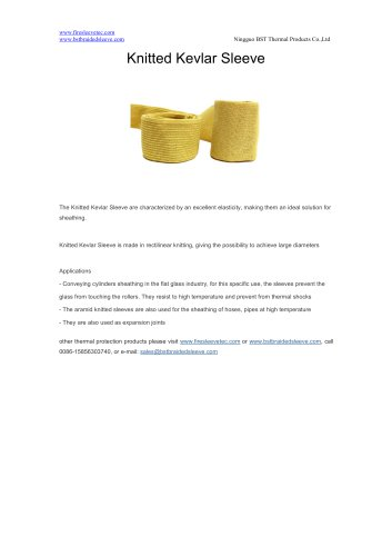 BSTFLEX Knitted Kevlar Sleeve for high temperature protection