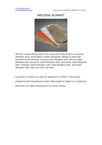 BSTFLEX silica, fiberglass, ceramic high temperature resistant welding blanket