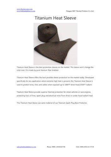 BSTFLEX Thermal Shield Titanium Heat Sleeve