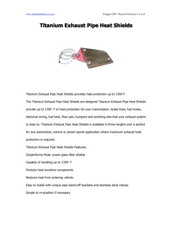 BSTFLEX Titanium Exhaust Pipe Heat Shields